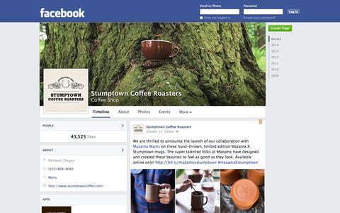 Screenshot of Facebook Page facebook.com - Stumptown Coffee Roasters - Portland, OR - Coffee Shop | Facebook - captured Oct. 25, 2014