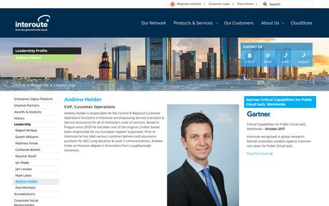Screenshot of Team Page interoute.com - Andrew Holder | EVP Customer Operations | Interoute - captured Jan. 20, 2018