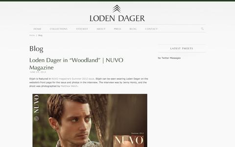 Screenshot of Blog lodendager.com - Blog | Loden Dager | Smart, inspired, and relevant menswear for the contemporary man - captured Sept. 30, 2014
