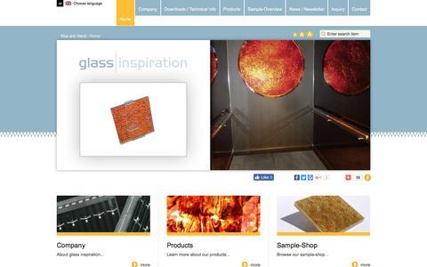 Screenshot of Home Page glass-inspiration.com - glass-inspiration - laminated safety glass - captured Sept. 30, 2016