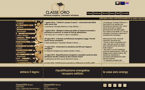 Screenshot of Press Page classeoro.com - ClasseOro Italia - News - captured Sept. 29, 2014