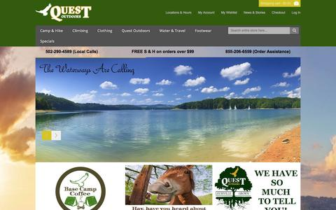 Screenshot of Home Page questoutdoors.com - Quest Outdoors - Home Page - captured April 27, 2017