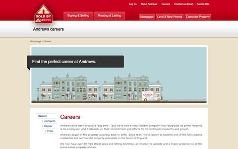 Screenshot of Jobs Page andrewsonline.co.uk - Andrews: Careers - captured Sept. 19, 2014