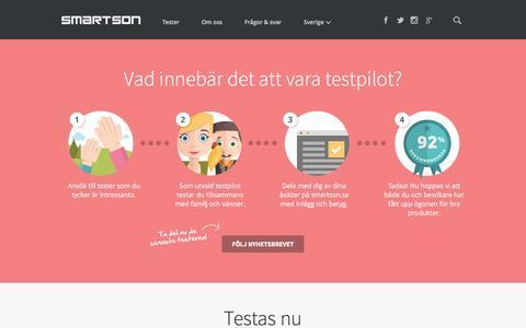 Screenshot of Home Page smartson.se - Smartson - captured Jan. 11, 2016