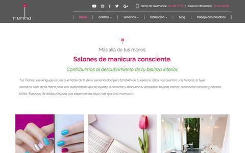 Screenshot of Home Page nenha.com - Centros NENHA: Belleza, Estética, Manicura y Pedicura en Madrid. - captured Sept. 20, 2018