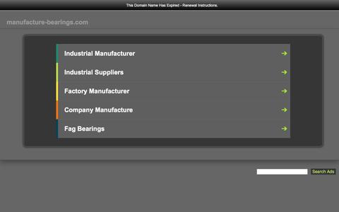 Screenshot of Home Page manufacture-bearings.com - manufacture-bearings.com-manufacture-bearings Resources and Information. - captured Sept. 24, 2018