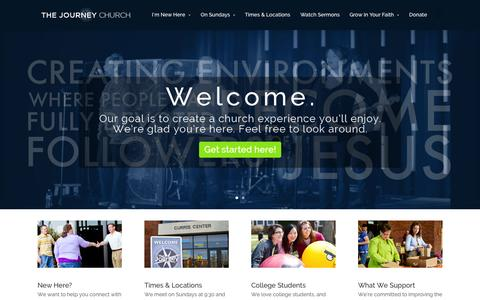 Screenshot of Home Page journeycalloway.com - The Journey Church | An Experience You'll Enjoy - captured Oct. 6, 2014