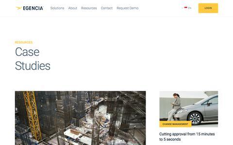 Screenshot of Case Studies Page egencia.com - Case Studies | Egencia - captured July 26, 2018
