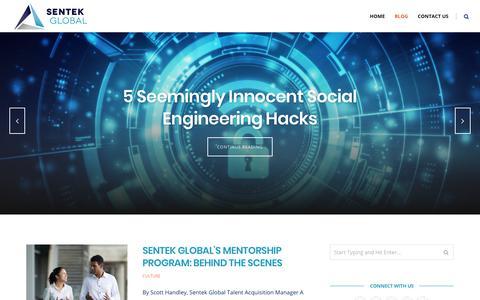 Screenshot of Blog sentekglobal.com - Sentek Global News - Get the latest news - captured Jan. 20, 2019
