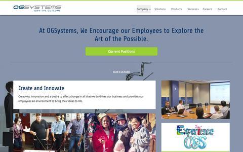 Screenshot of Jobs Page ogsystems.com - Careers   OGSystems - captured July 15, 2015