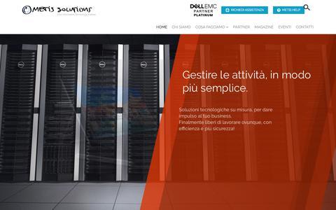Screenshot of Home Page metisnet.it - Partner DELL- Assistenza e Consulenza Informatica a Verona - Metis Solutions - captured Oct. 18, 2017