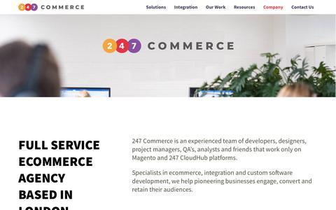 Screenshot of About Page 247commerce.co.uk - Ecommerce Platform Integration Specialists   247 Commerce - captured Oct. 19, 2018
