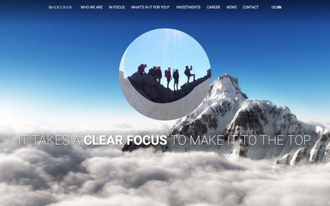 Screenshot of Home Page adcuram.com - ADCURAM • Startseite - captured Sept. 12, 2015