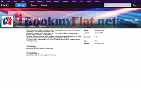 Screenshot of Flickr Page flickr.com - Flickr: BookmyFlat.net - captured Oct. 23, 2014