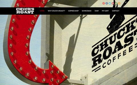 Screenshot of Home Page chucksroast.com - Chuck's Roast Coffee - captured Sept. 29, 2014