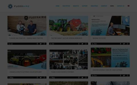 Screenshot of Press Page flexxaire.com - News | Flexxaire | Upcoming Events - captured Aug. 15, 2018