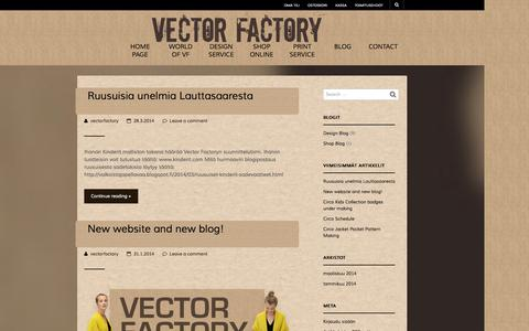 Screenshot of Blog vectorfactory.fi - Blog | Vector Factory Oy - captured Oct. 26, 2014