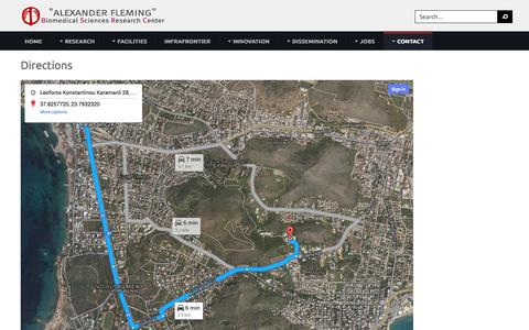 Screenshot of Maps & Directions Page fleming.gr - Directions - captured Oct. 4, 2014