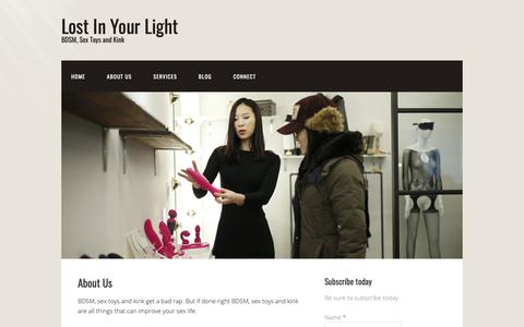 Screenshot of About Page prccsi.com - About Us | Lost In Your Light - captured Sept. 27, 2018