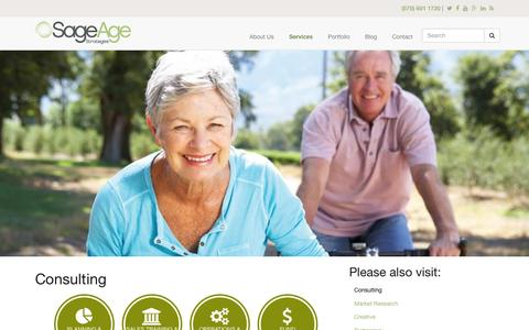 Screenshot of sageagestrategies.com - Consulting | Sage Age Strategies - captured March 19, 2016