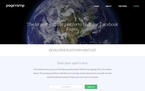 Screenshot of Developers Page pagevamp.com - Developers | Pagevamp - captured July 19, 2014