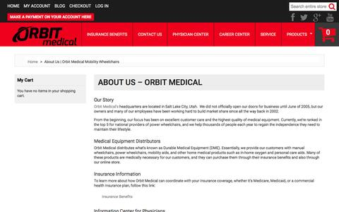 Screenshot of About Page orbitmedical.com - About Us | Orbit Medical Mobility Wheelchairs - captured Feb. 22, 2016