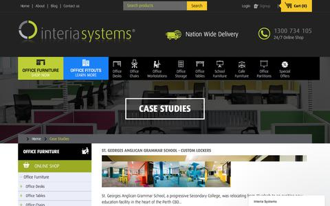 Screenshot of Case Studies Page interiasystems.com.au - Case Studies - captured June 8, 2017