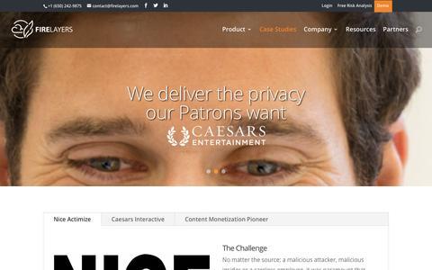 Screenshot of Case Studies Page firelayers.com - Case Studies - FIRELAYERS - captured Jan. 8, 2016
