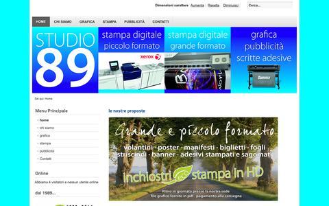 Screenshot of Home Page studio89.net - studio89.net - home - captured Oct. 28, 2018