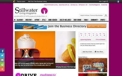 Screenshot of Home Page stillwaterliving.com - Stillwater Living Magazine | Serving Stillwater Oklahoma - captured Oct. 6, 2014