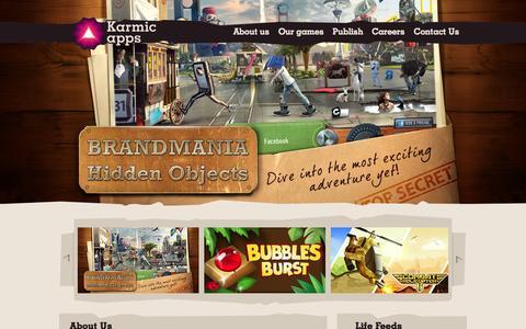 Screenshot of Home Page karmicapps.com - KarmicApps - captured Jan. 21, 2015