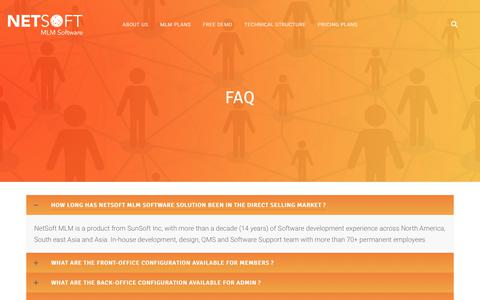 Screenshot of FAQ Page mlmsoftware.co - FAQ | MLM SOFTWARE - captured July 10, 2018