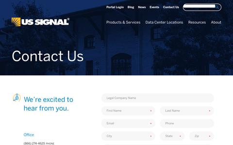 Screenshot of Contact Page ussignal.com - Contact Us | US Signal - captured May 10, 2019