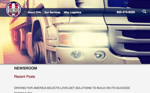 Screenshot of Press Page drivingforamerica.com - Newsroom | Driving for America - captured Oct. 29, 2014