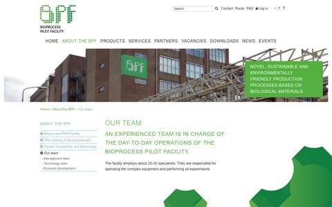 Screenshot of Team Page bpf.eu - Our team         :: BPF - captured Oct. 10, 2017