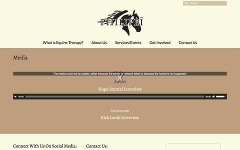 Screenshot of Press Page philippicenter.com - Media | Philippi Center | Equine Horse Therapy Aurora, CO - captured July 8, 2016