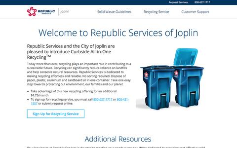 Joplin - Trash & Recycle Services | Republic Services