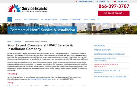 Commercial HVAC Service and Installation in your city | Service Experts