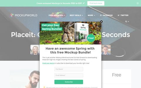 Screenshot of mockupworld.co - Placeit: Create Mockups In Seconds | MockupWorld - captured March 30, 2016