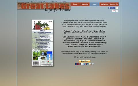 Screenshot of Maps & Directions Page greatlakeslifeandtimes.com - MAP - captured Sept. 30, 2014