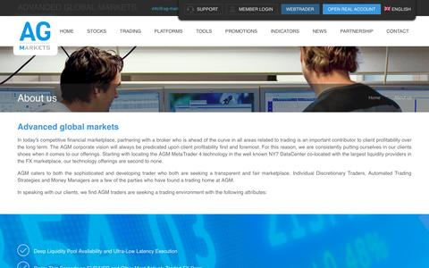 Screenshot of About Page ag-markets.com - About us, information regarding our company - Ag-markets.com - captured Nov. 20, 2016