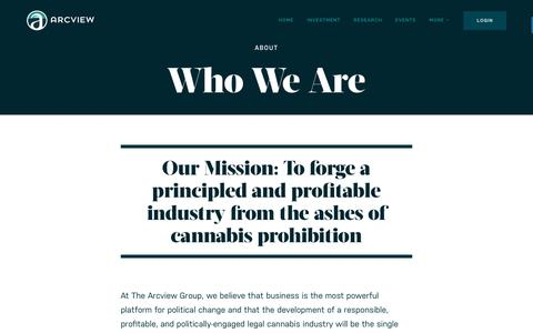 Screenshot of About Page arcviewgroup.com - About | The Arcview Group - captured July 29, 2018