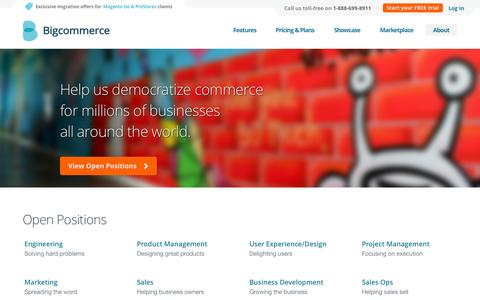 Screenshot of Jobs Page bigcommerce.com - Careers | Bigcommerce - captured Oct. 29, 2014