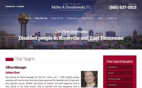 Screenshot of Team Page lawknox.com - Team - Miller & Drozdowski, P.C. Knoxville, TN - captured Feb. 13, 2016