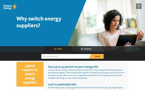 Why Switch - Choose Energy
