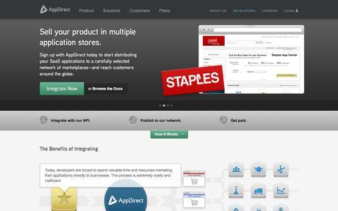 Screenshot of Developers Page appdirect.com - Developer Community - AppDirect - captured Nov. 13, 2015