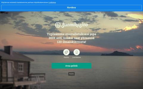 Screenshot of Home Page suomikasino.com - Suomikasino | Nettikasino Suomalaisille, uusimmat pelit ja parhaat tarjoukset - captured June 4, 2019