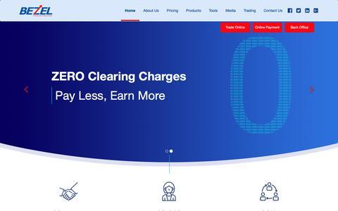 Screenshot of Home Page bezelgroup.in - Bezelgroup - Best Online Stock Brokers in India with Zero Brokerage, Cheapest Brokerage and Lowest Brokerage Plan. - captured Oct. 18, 2018