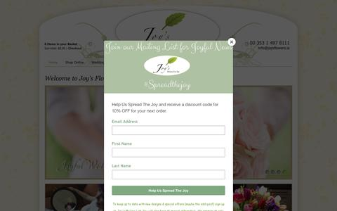 Screenshot of Home Page joysflowers.ie - Home | Joys Flowers for you | florist Dublin | Flower delivery Dublin - captured Oct. 14, 2018