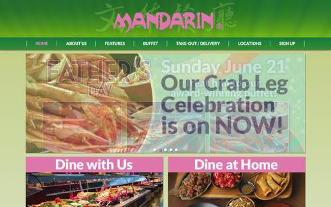 Screenshot of Home Page mandarinrestaurant.com - Mandarin   Award-winning Chinese-Canadian Buffet Restaurants - captured June 18, 2015